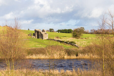 county meath: Sunlight falling on the Sheeps Gate at Trim Ireland