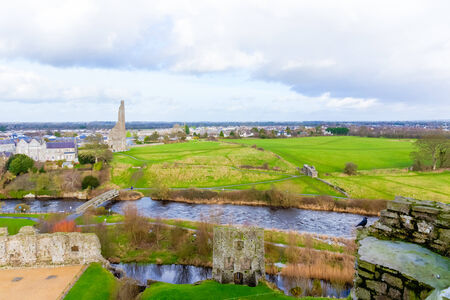 great hall: View of the famous ruins at Trim Castle Yellow Steeple Great Hall Mint Sheeps Gate