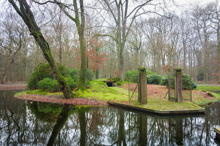 Wesselman grave in Helmond in the Netherlands on a winter day Editorial