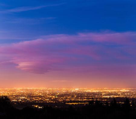 Dublin City at dusk during Blue Hour photo