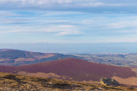View towards Bray and Dublin from Djouce summit photo