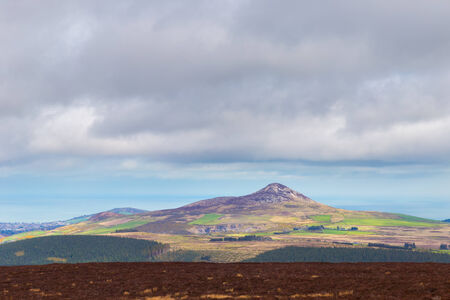 Distant view of Sugar Loaf Mountain in Wicklow photo