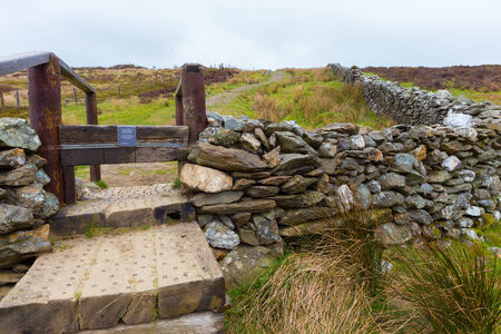 Manmade steps in Wicklow Mountains photo