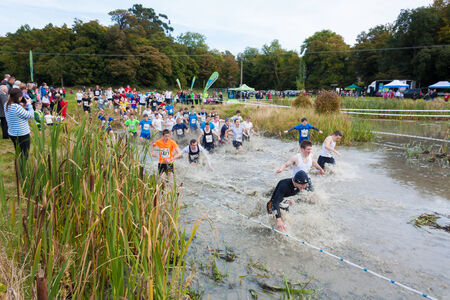 Unidentified people partaking in the Hell and Back run held in Dublin each year