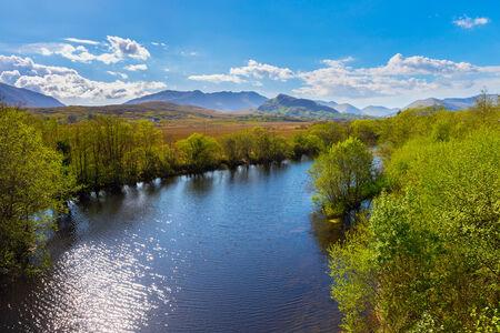 connemara: Bealnabrack River in Connacht at Maam Cross Stock Photo