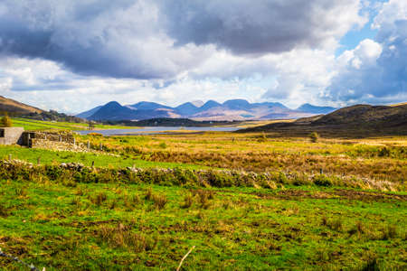 Dramatic view of the Twelve Bens in Connacht photo