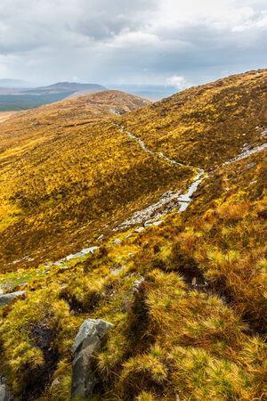 bogs: Hiking trail through Connemara National Park