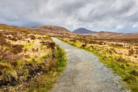 connemara: Hiking trail towards Diamond Hill in Connemara National Park