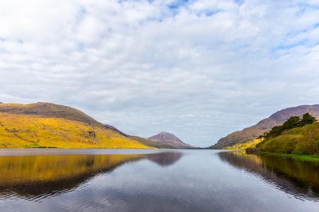 connemara: Idyllic Kylemore Lough in Connemara in County Galway Ireland