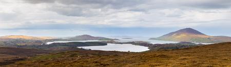 connemara: Panoramic view of the North Atlantic in Connemara