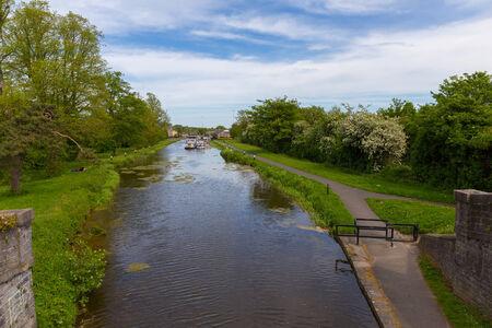 lift lock: Royal Canal and the twelfth lock in Castleknock Dublin Ireland