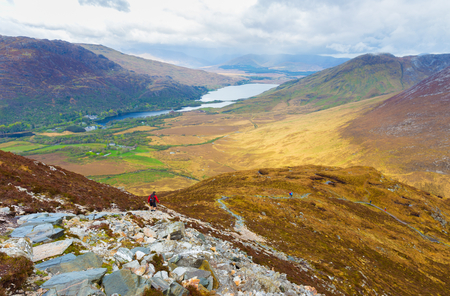 lough: View of Kylemore Lough from Diamond Hill