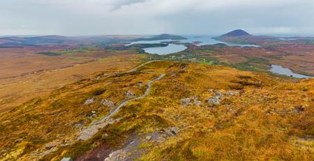 connemara: View of the North Atlanic from Diamond Hill in Connemara Stock Photo