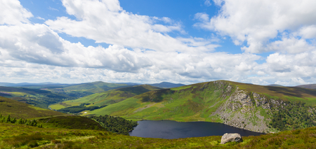 tay: Panoramic View of Fancy Mountain and Lough Tay