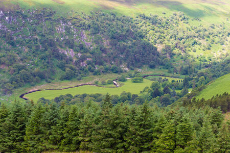 tay: The valley at Lough Tay in Wicklow Mountains Stock Photo
