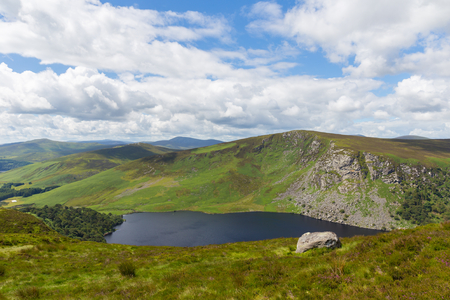 tay: View of Fancy Mountain and Lough Tay Stock Photo
