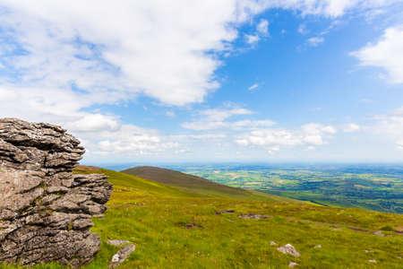 blackrock: Big granite rock in Blackstairs Mountains