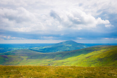 leinster: Blackstairs Mountain view from Mt Leinster Stock Photo