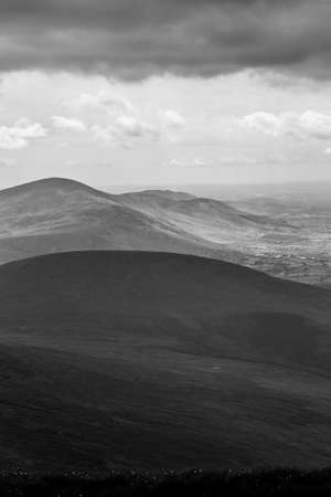 leinster: Blackstairs Mountains in Carlow view from Mt Leinster Stock Photo