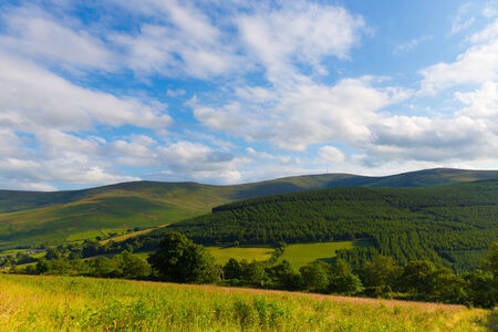 blackrock: Blackstairs Mountains seen from Carlow Stock Photo