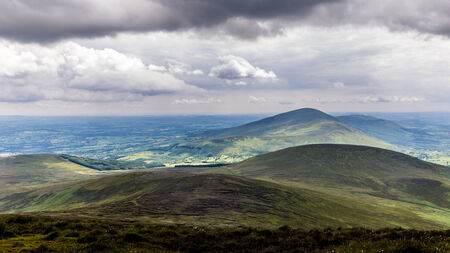 blackrock: Blackstairs Mountains seen from Mount Leinster