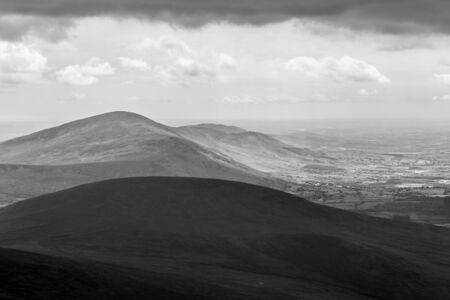 blackrock: Blackstairs Mountains seen from Mt Leinster