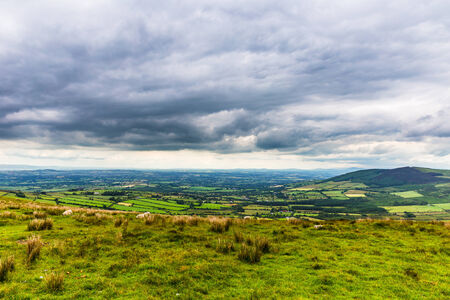 windsock: Carlow county on a cloudy day Stock Photo