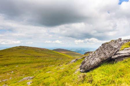 blackrock: Granite rock on a mountain ridge