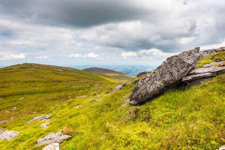 blackrock: Granite rocks on a mountain ridge Stock Photo