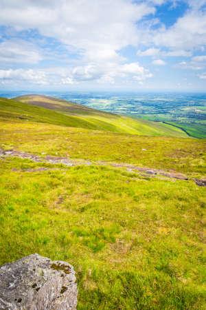blackrock: Grassland on the ridge of Blackstairs Mountains