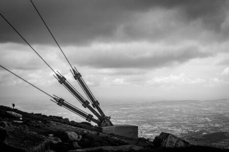 leinster: Guy for the RTE mast on Mount Leinster