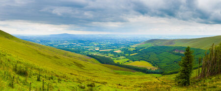leinster: Hillside of Mt Leinster and valley in Carlow Stock Photo