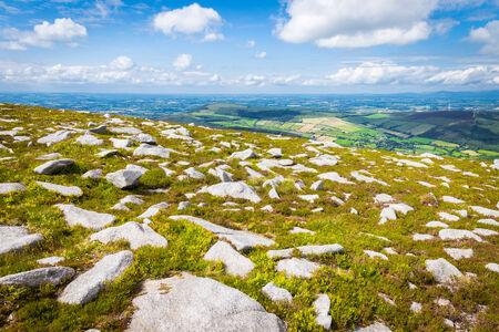blackrock: Many scattered rocks on the hillside