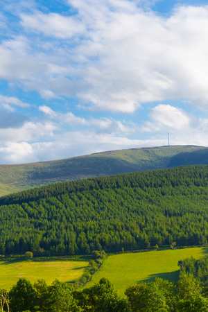 leinster: Mt Leinster seen from Carlow Stock Photo