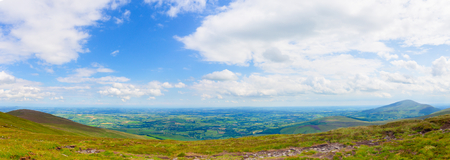 blackrock: Panorama of County Carlow in Ireland Stock Photo