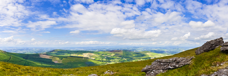 blackrock: Panorama of Granite rocks and a patchy landscape