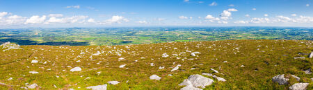 blackrock: Panorama of scattered rocks and Irish landscape