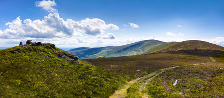 blackrock: Panorama of the trail to Mount Leinster