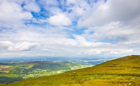 leinster: Patchy landscape of Carlow in Ireland