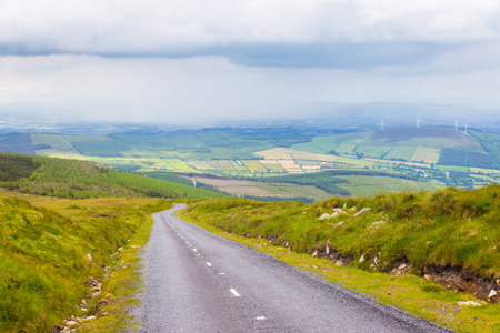 leinster: Road down to the valley from Mount Leinster