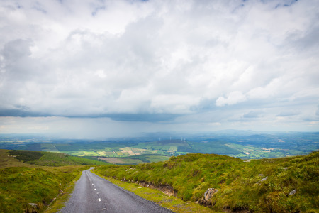 leinster: Road downhill from Mount Leinster on a clouded day