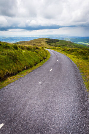 leinster: Road going downhill from Mount Leinster