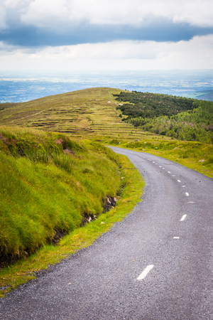 leinster: Road going downhill from Mt Leinster