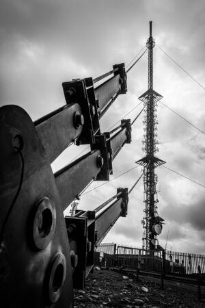 leinster: RTE Antenna on Mt Leinster Stock Photo