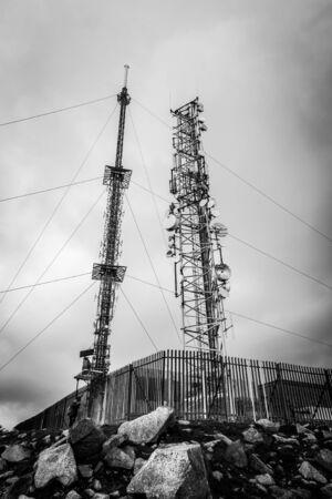 leinster: RTE antennna masts at Mt Leinster summit