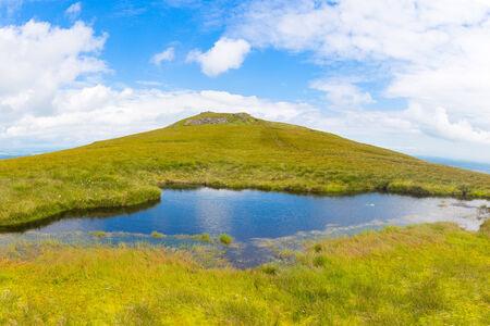 blackrock: Small pond on the ridge of Mt Leinster