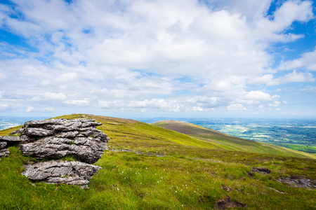 leinster: Stacked granite rocks on Mt Leinster