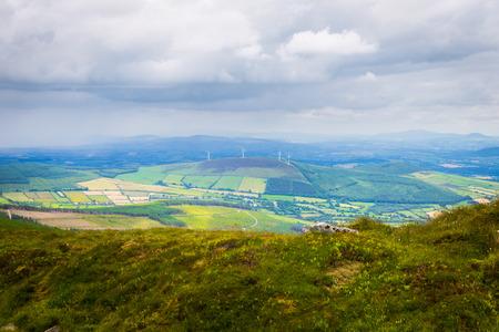 blackrock: Valley in Carlow with wind turbines