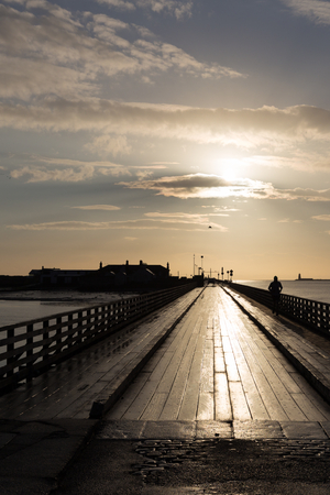 Bull Bridge at Dollymount photographed early morning photo