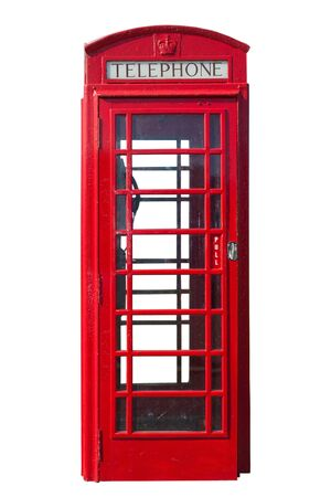 telephone: Traditional red telephone booth cut out as seen in Northern Ireland Stock Photo